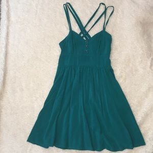 Teal sundress with pockets